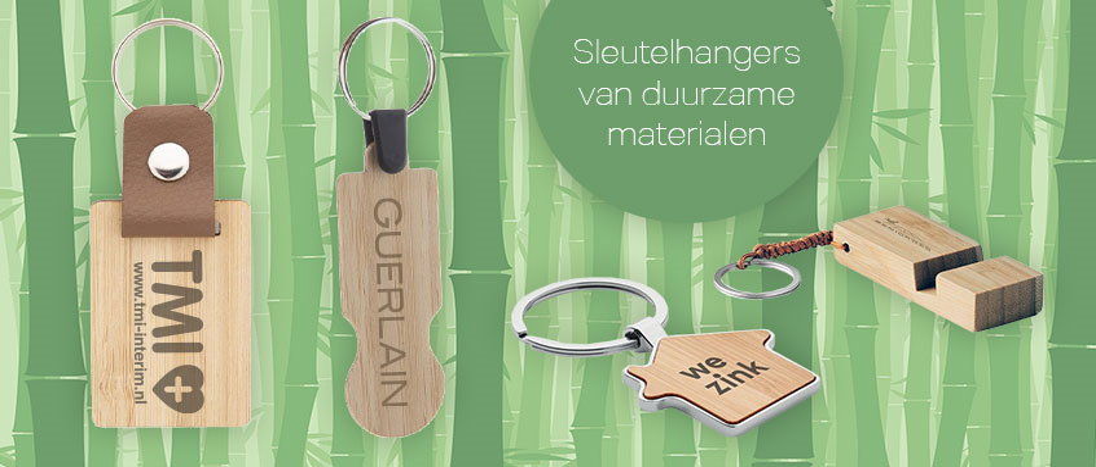 sleutelhangers van bamboe