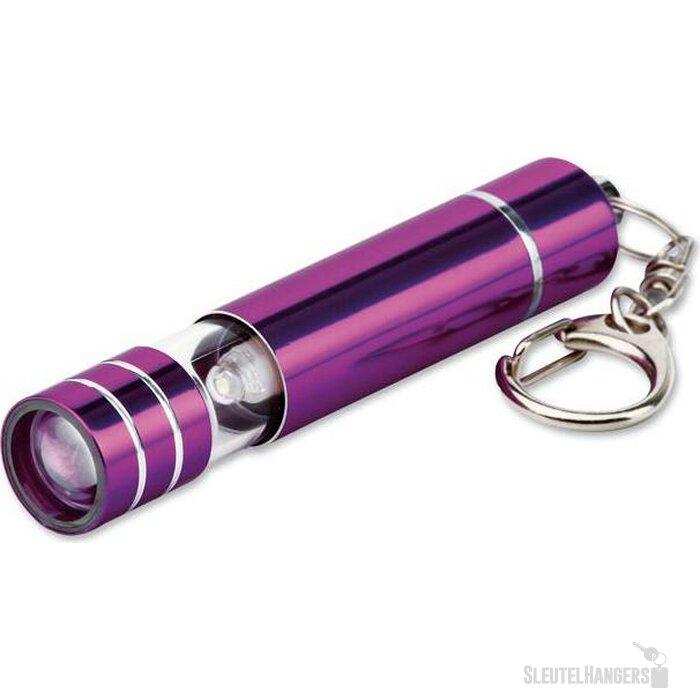 Sleutelhanger met lampje Glower paars