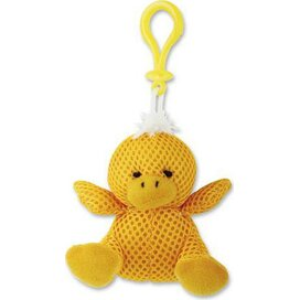 Sleutelhanger pluche knuffel Quakcy geel