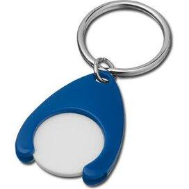 Sleutelhanger met winkelwagenmuntje Porthos blauw