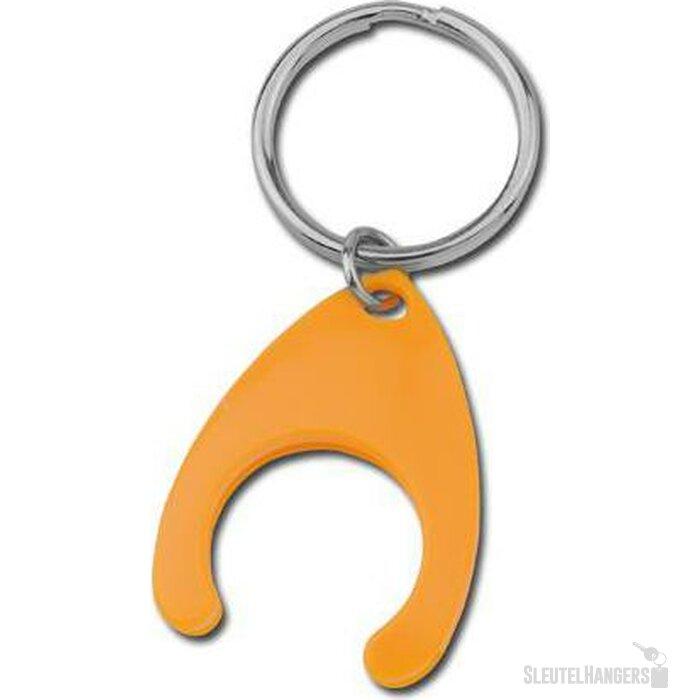 Sleutelhanger met winkelwagenmuntje Porthos oranje
