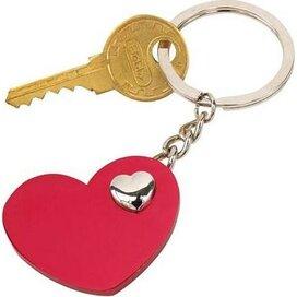 Sleutelhanger Heart in Heart rood