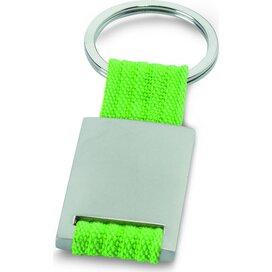 Metalen sleutelhanger Tech Lime groen