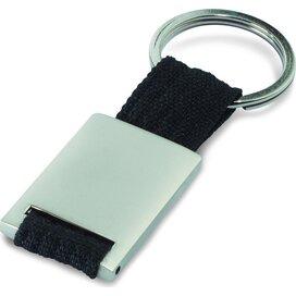 Metalen sleutelhanger Tech Zwart
