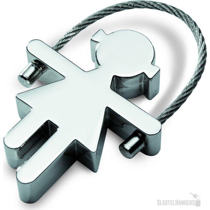 Metalen sleutelhanger Mariana zilver