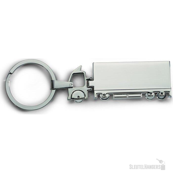 Metalen sleutelhanger Trucky zilver