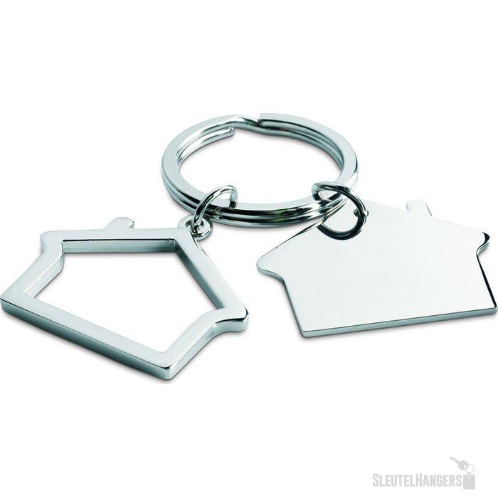 Sleutelhanger in huisvorm Sniper zilver