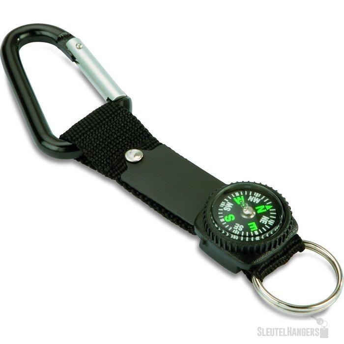Sleutelhanger met karabijnhaak Keymax Zwart