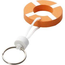 Drijvende sleutelhanger Oranje,Wit
