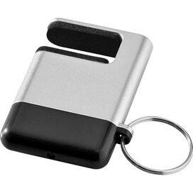 Gogo mobiele telefoonhouder en schermreiniger Zilver,Zwart