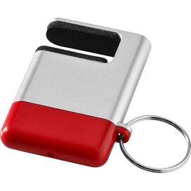 Gogo mobiele telefoonhouder en schermreiniger Zilver,Rood