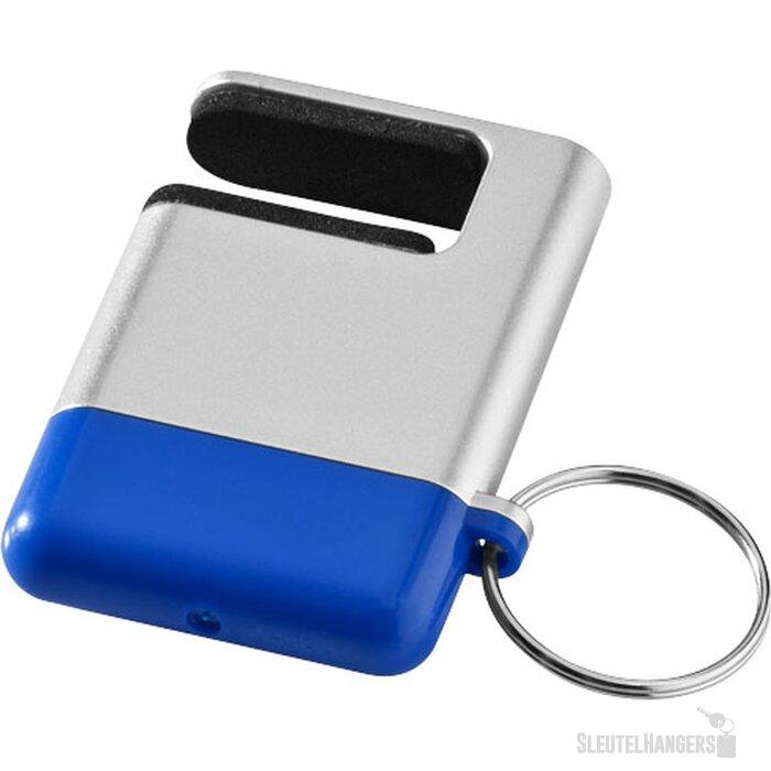 Gogo mobiele telefoonhouder en schermreiniger Zilver,blauw
