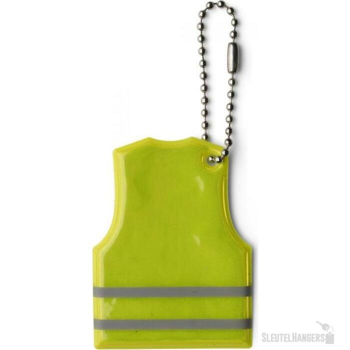 Reflecterende sleutelhanger Mesa geel