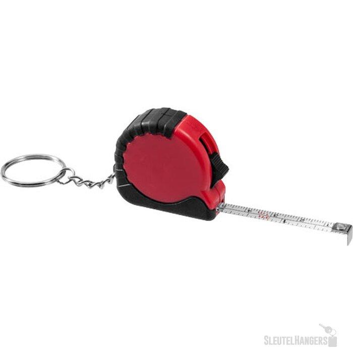 Habana 1 meter rolmaat met sleutelhanger Rood
