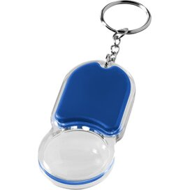 Zoomy sleutelhanger met vergrootglas en lampje koningsblauw