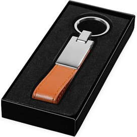 Sleutelhanger met lus Oranje,Zilver