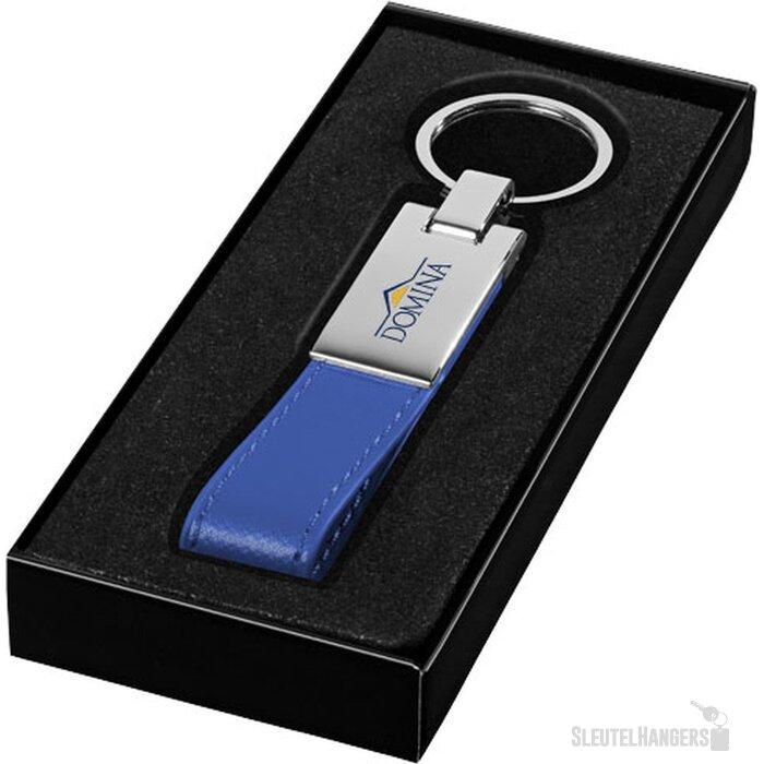 Sleutelhanger met lus blauw,Zilver