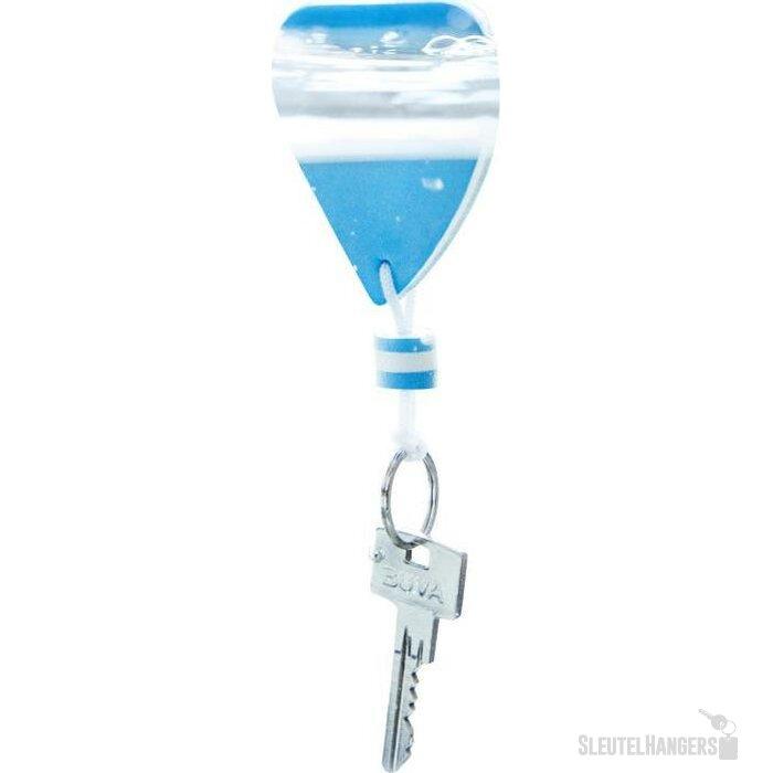 Drijvende sleutelhanger in vorm van zeilschip