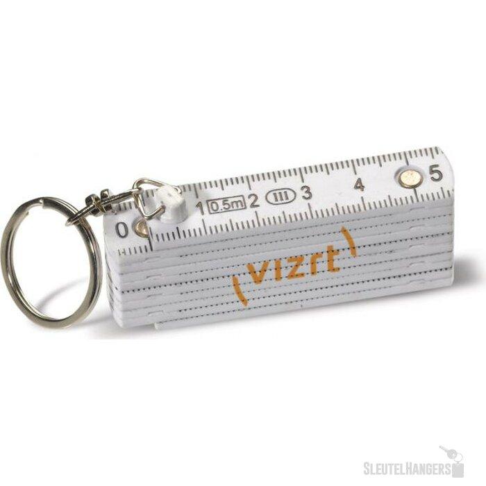 Sleutelhanger Mini Duimstok Wit