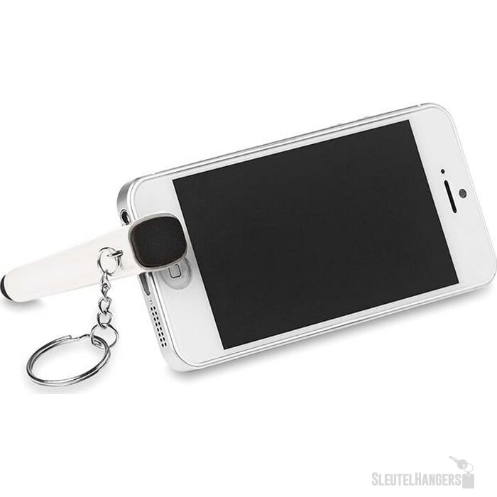 Sleutelhanger, telefoonhouder Wit