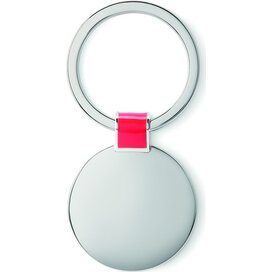 Metalen sleutelhanger Roundy Rood