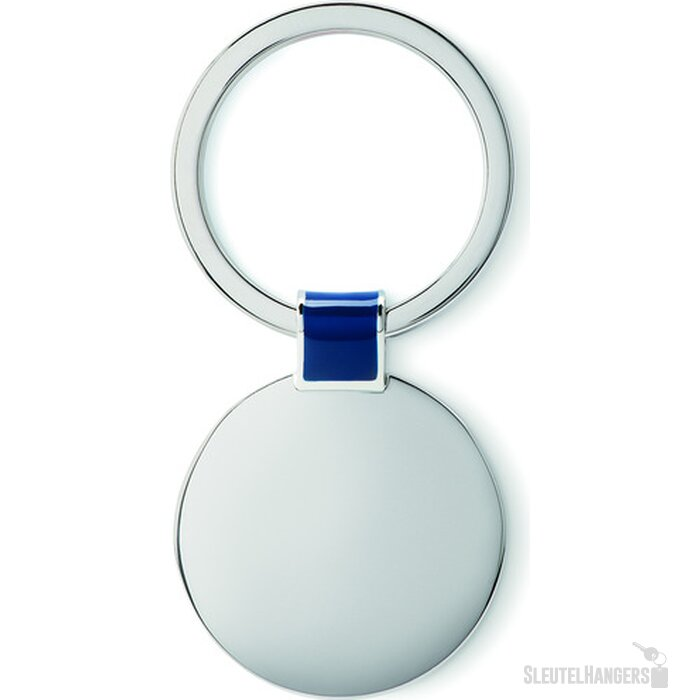 Metalen sleutelhanger Roundy (Kobalt) blauw