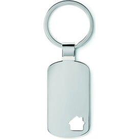 Metalen sleutelhanger, huisje House Key zilver