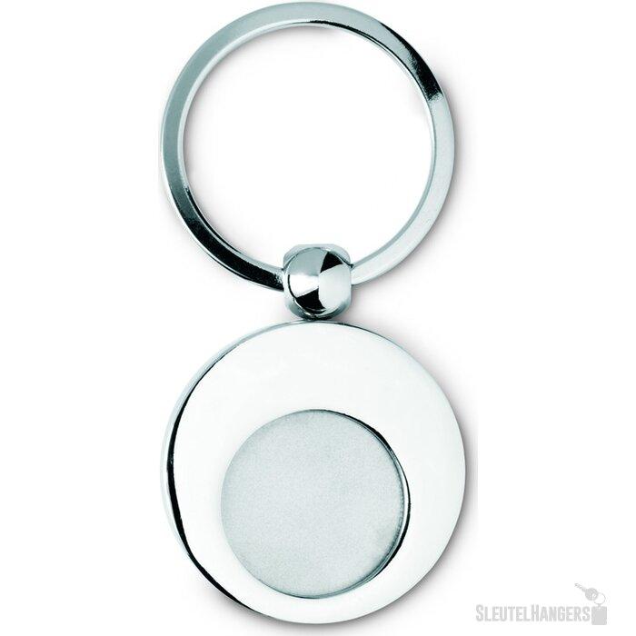 Sleutelhanger met munt Euring glanzend zilver