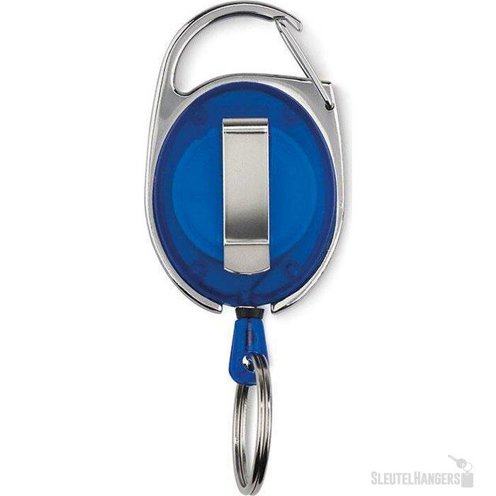 Badgehouder met karabijnhaak Blauw