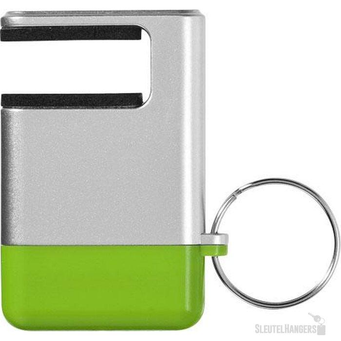 Gogo mobiele-telefoonhouder en schermreiniger Zilver,Groen