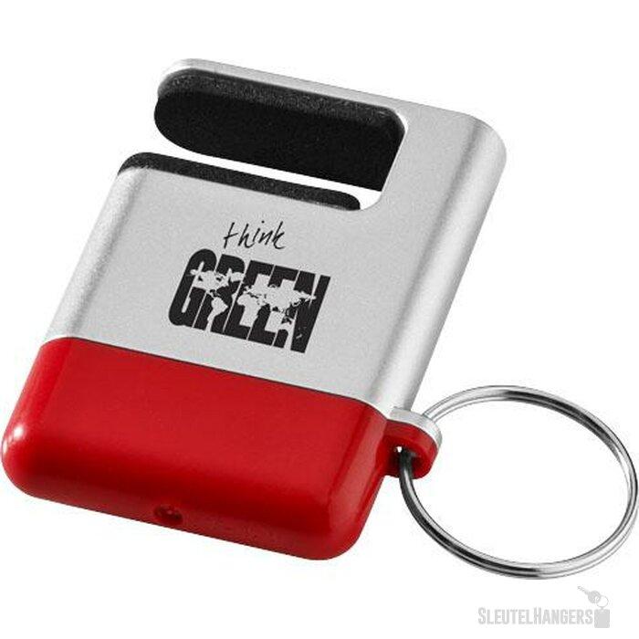 Gogo mobiele-telefoonhouder en schermreiniger Zilver,Rood