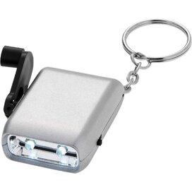 Carina dynamo sleutelhangerlampje Zilver