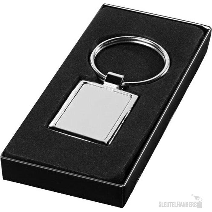 Vierkante sluetelhanger Zilver