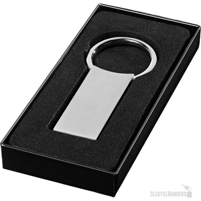 Rechthoekige sleutelhanger Zilver