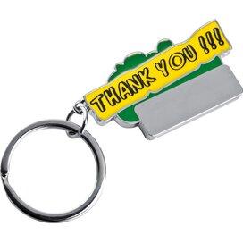 Sleutelhanger Thank you groen