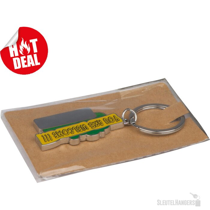 Sleutelhanger You are welcome groen