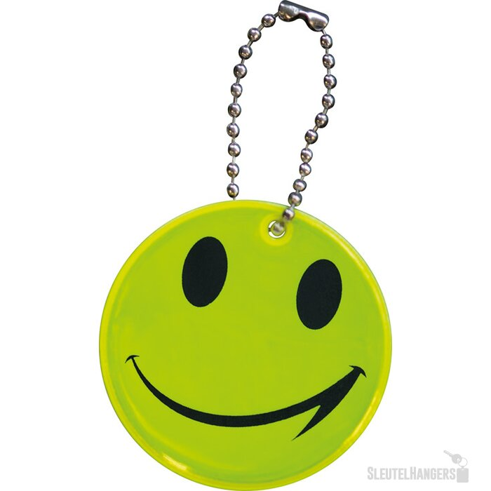 Reflecterende smiley Leno geel