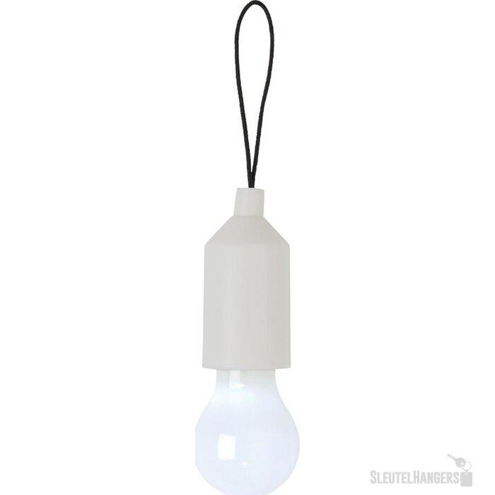 Pull lamp sleutelhanger wit