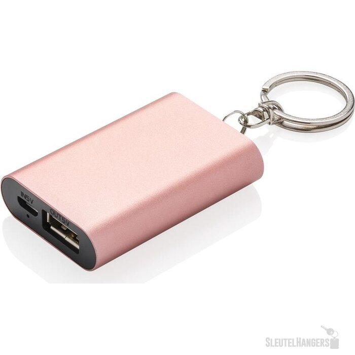 1.000 mAh sleutelhanger powerbank roze