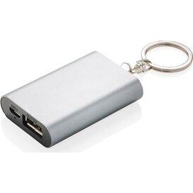 1.000 mAh sleutelhanger powerbank zilver
