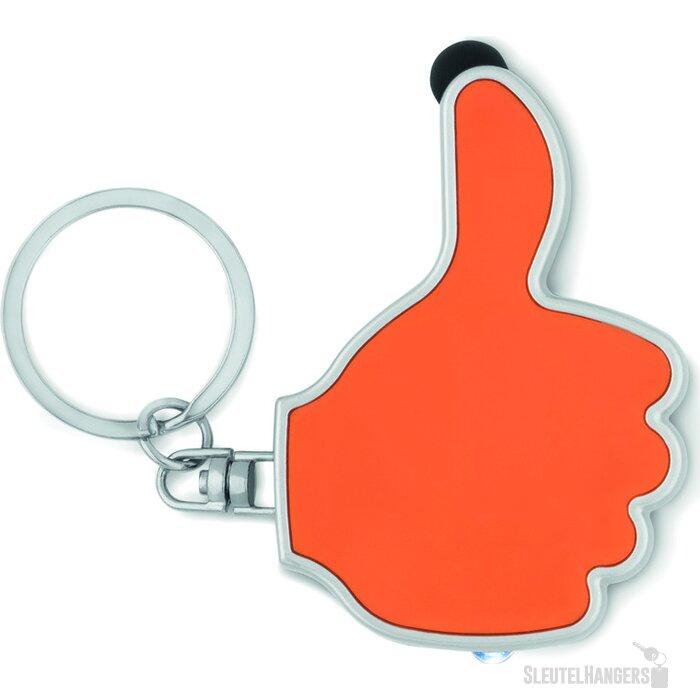 Sleutelhanger thumbs up-vorm Gioia Oranje