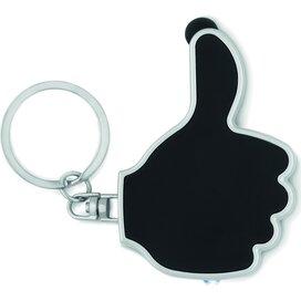 Sleutelhanger thumbs up-vorm Gioia Zwart
