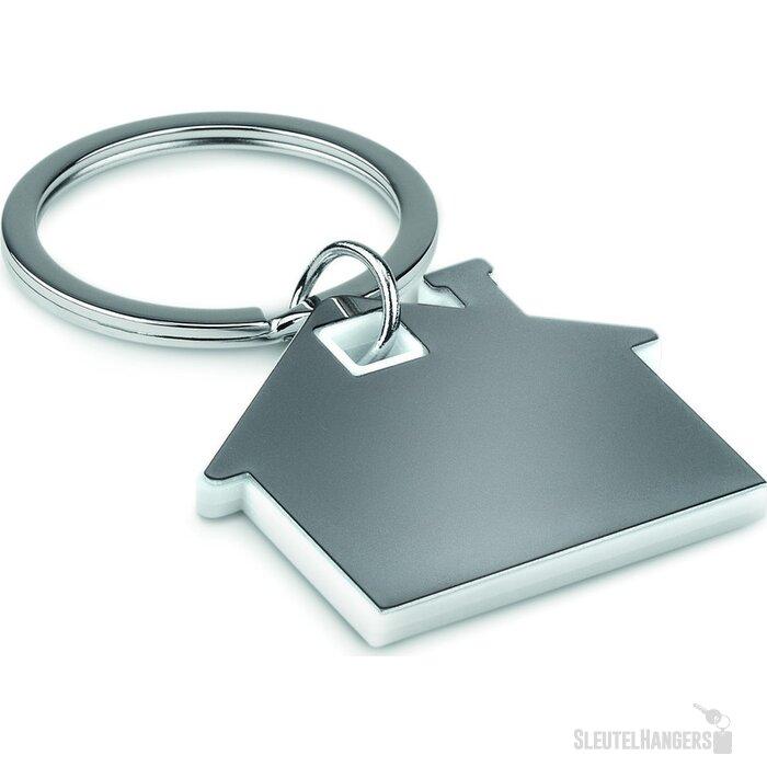 Huisvormige sleutelhanger Imba Wit