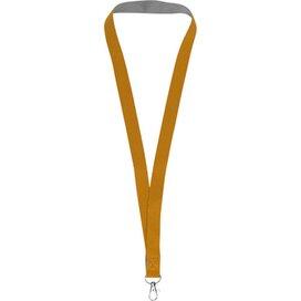 Aru tweekleurige lanyard met klittebandsluiting Oranje