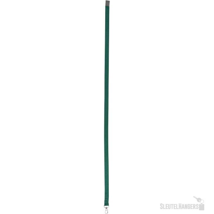 Aru tweekleurige lanyard met klittebandsluiting Groen