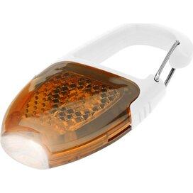 Reflector sleutelhanger lampje met karabijnhaak