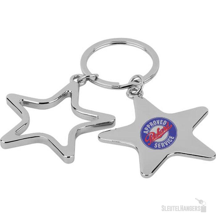 Star sleutelhanger Zilver