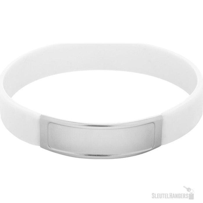 Truddy Siliconen Armband Wit