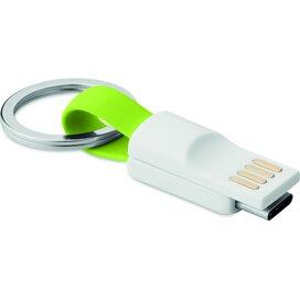 Sleutelhanger USB type C Mini C Lime groen