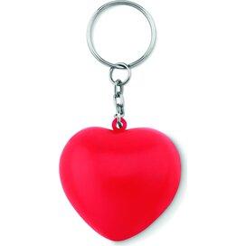 Sleutelhanger met PU hart Lovy Ring Rood